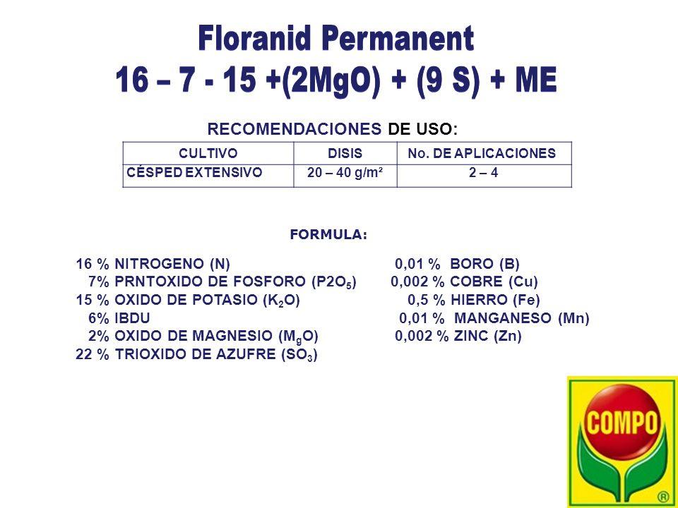 Floranid Permanent 16 – 7 - 15 +(2MgO) + (9 S) + ME