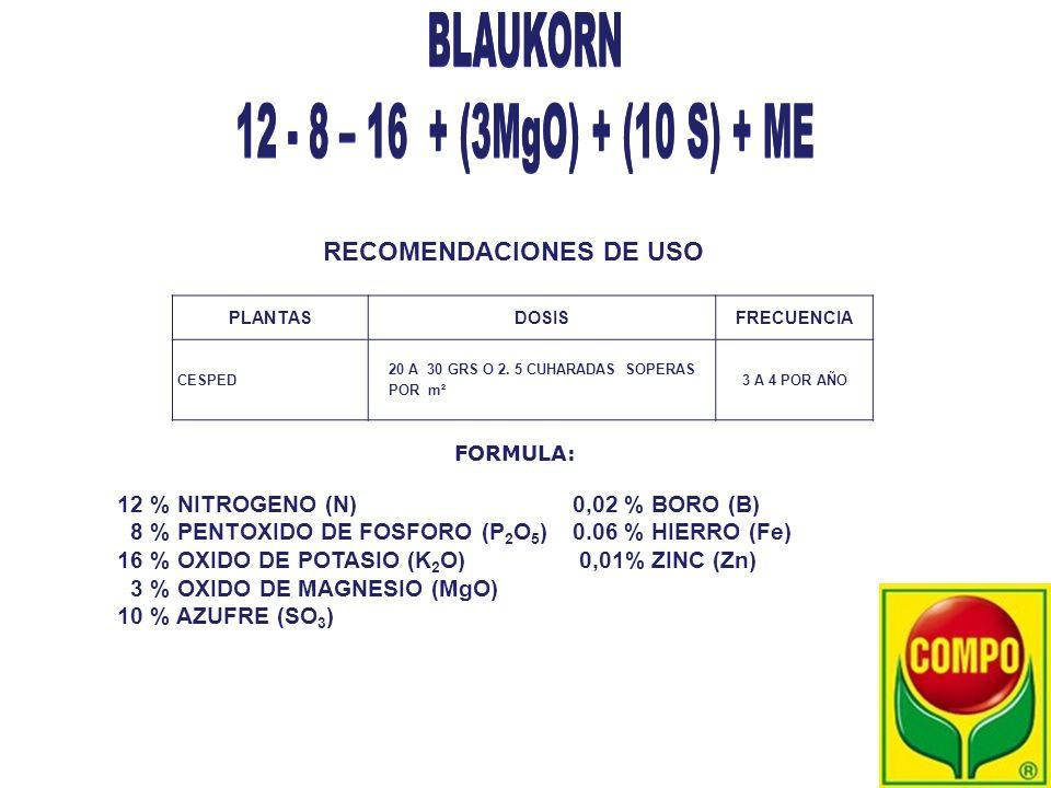 BLAUKORN 12 - 8 – 16 + (3MgO) + (10 S) + ME