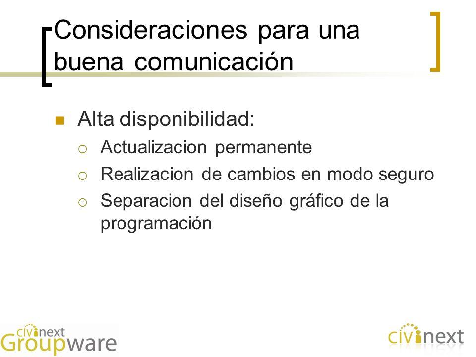 Consideraciones para una buena comunicación