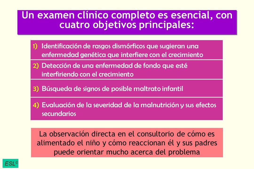 Un examen clínico completo es esencial, con cuatro objetivos principales: