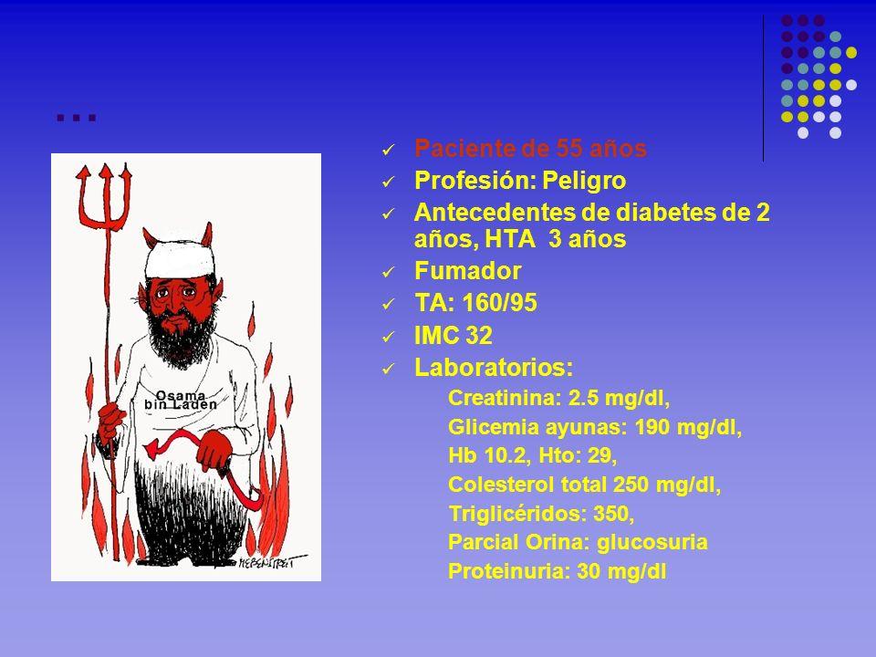 … Paciente de 55 años Profesión: Peligro