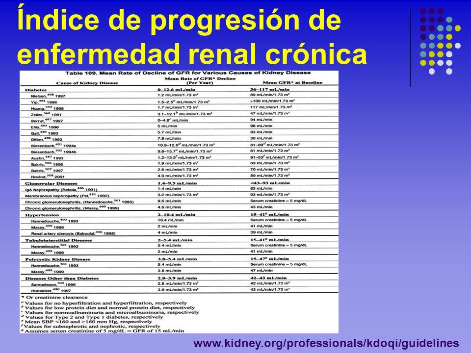 Índice de progresión de enfermedad renal crónica
