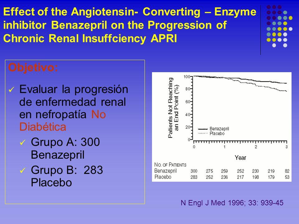 Evaluar la progresión de enfermedad renal en nefropatía No Diabética