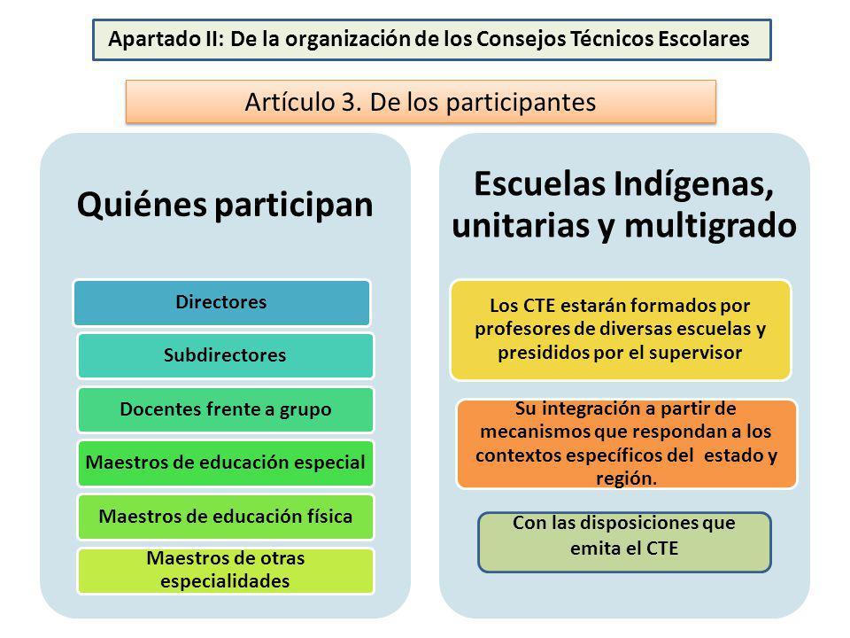 Quiénes participan Escuelas Indígenas, unitarias y multigrado