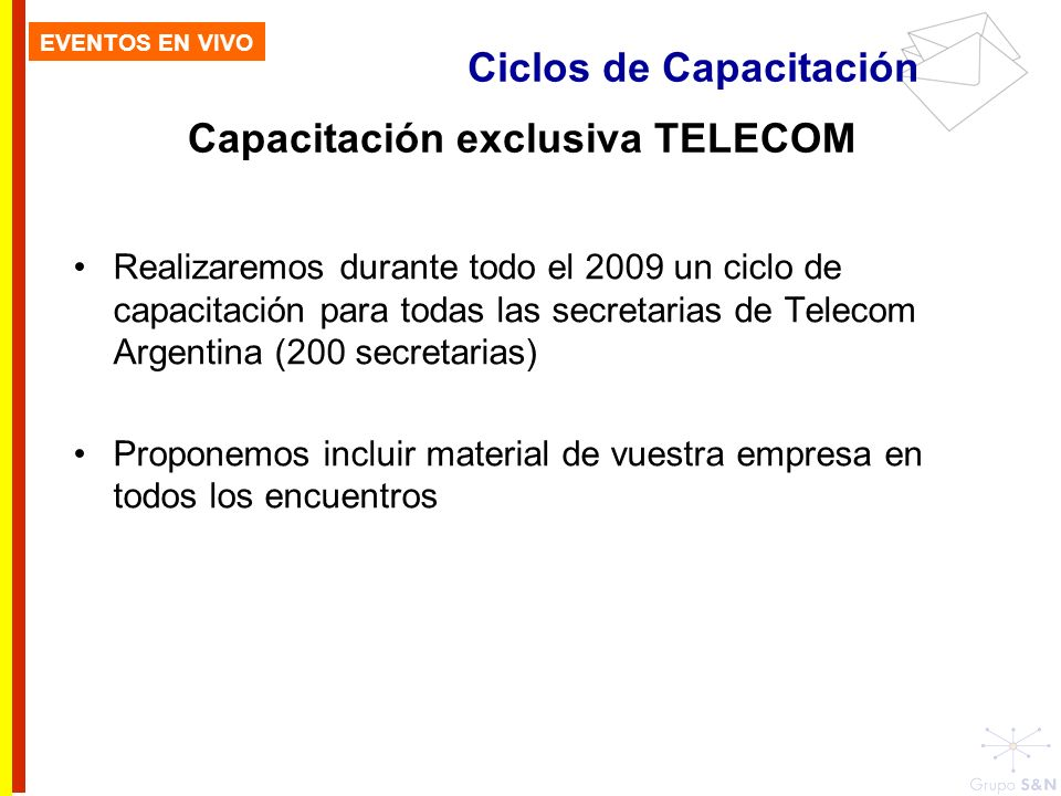 Capacitación exclusiva TELECOM