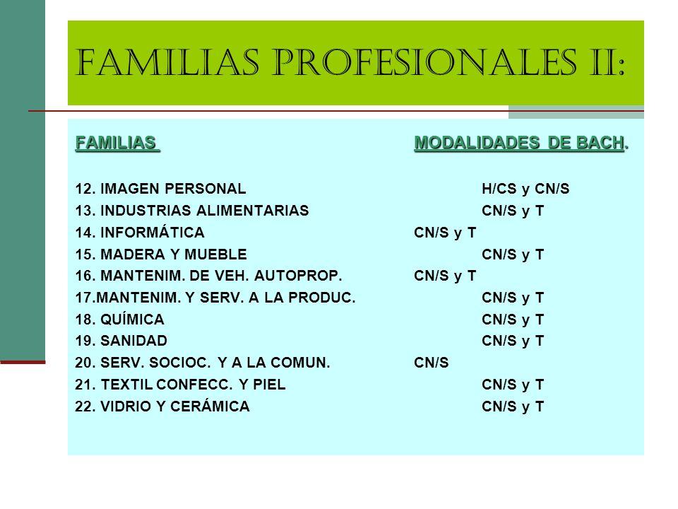 FAMILIAS PROFESIONALES II: