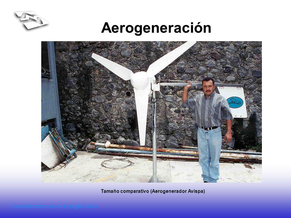 Tamaño comparativo (Aerogenerador Avispa)
