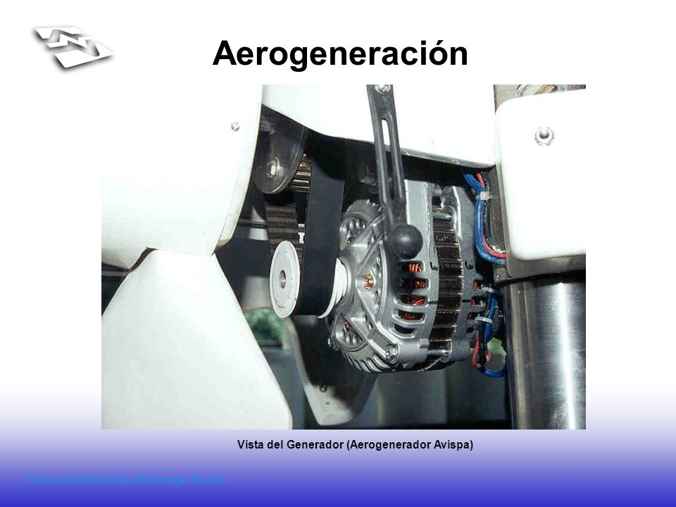Vista del Generador (Aerogenerador Avispa)