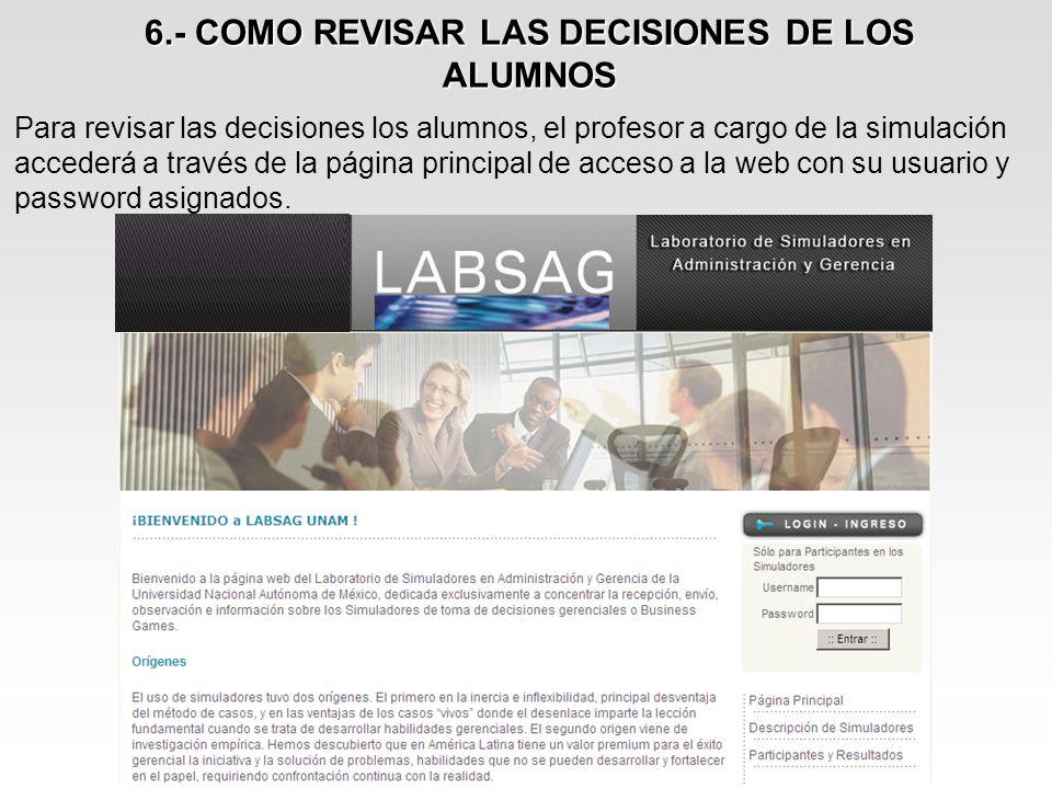 6.- COMO REVISAR LAS DECISIONES DE LOS ALUMNOS