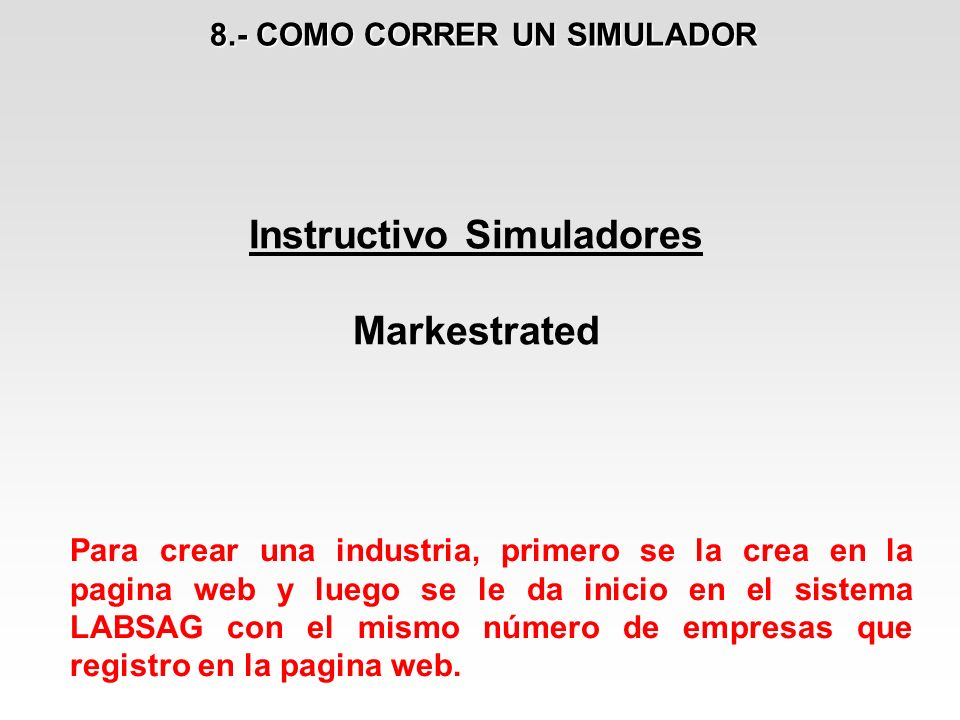 8.- COMO CORRER UN SIMULADOR Instructivo Simuladores