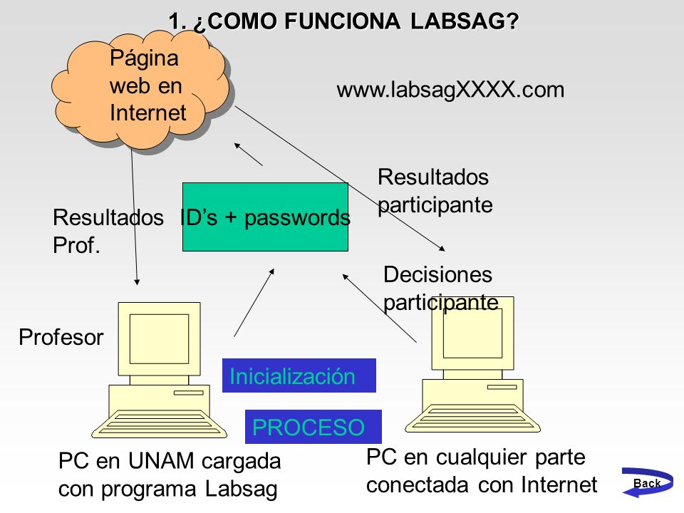 Resultados participante ID's + passwords Resultados Prof.