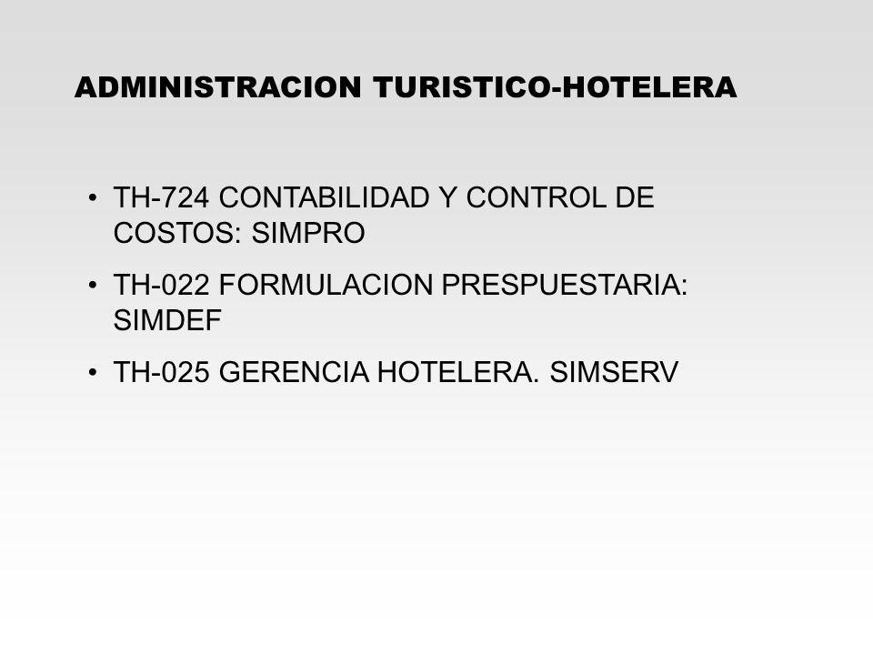 ADMINISTRACION TURISTICO-HOTELERA
