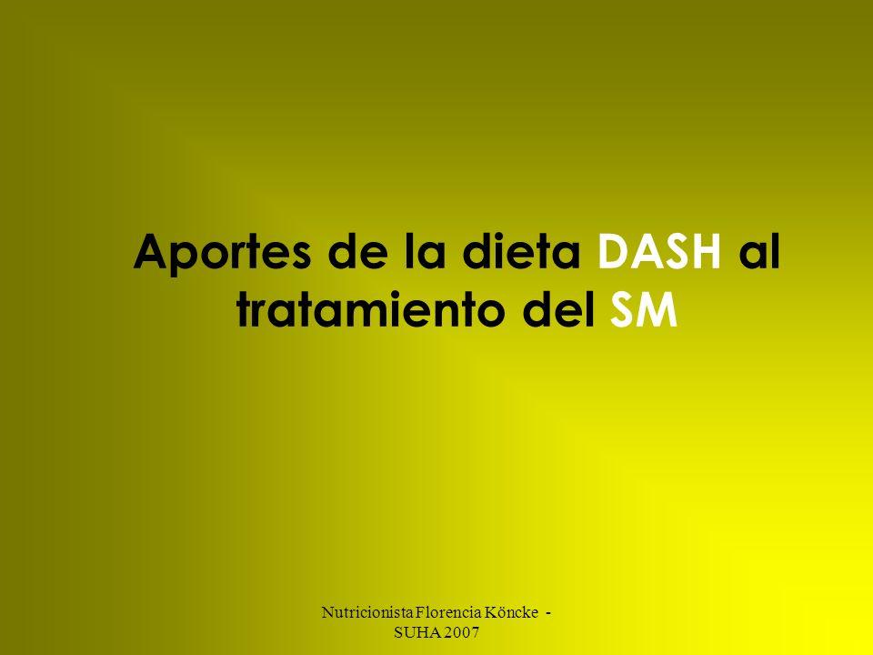 Aportes de la dieta DASH al tratamiento del SM