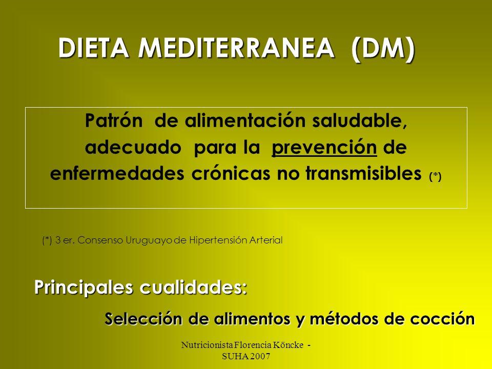 DIETA MEDITERRANEA (DM)