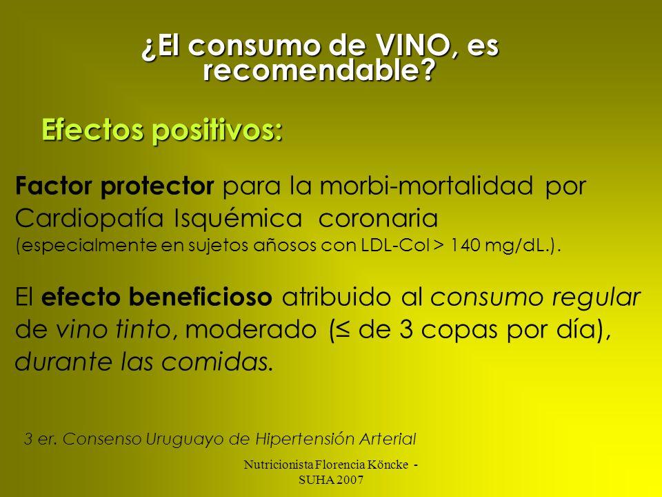 ¿El consumo de VINO, es recomendable