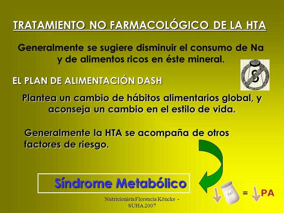 TRATAMIENTO NO FARMACOLÓGICO DE LA HTA
