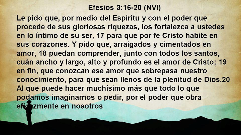 Efesios 3:16-20 (NVI)