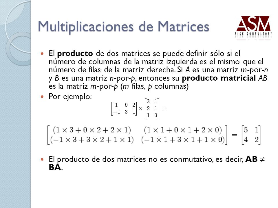 Multiplicaciones de Matrices