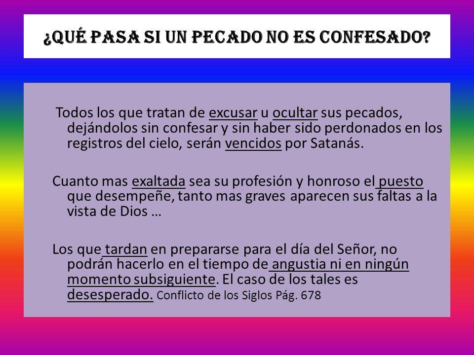 ¿Qué pasa si un pecado no es confesado