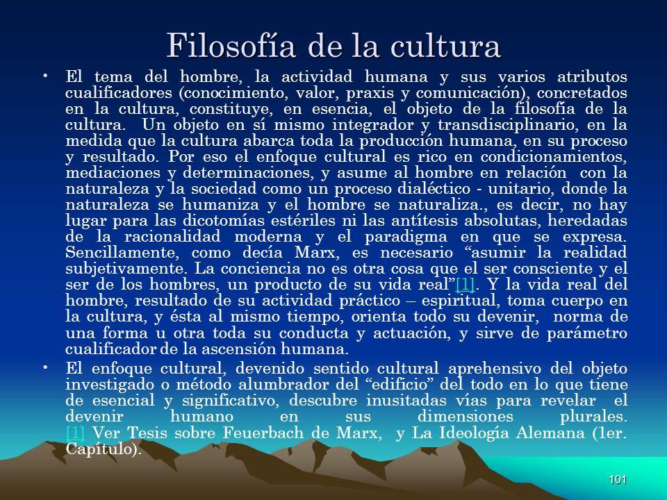 Filosofía de la cultura