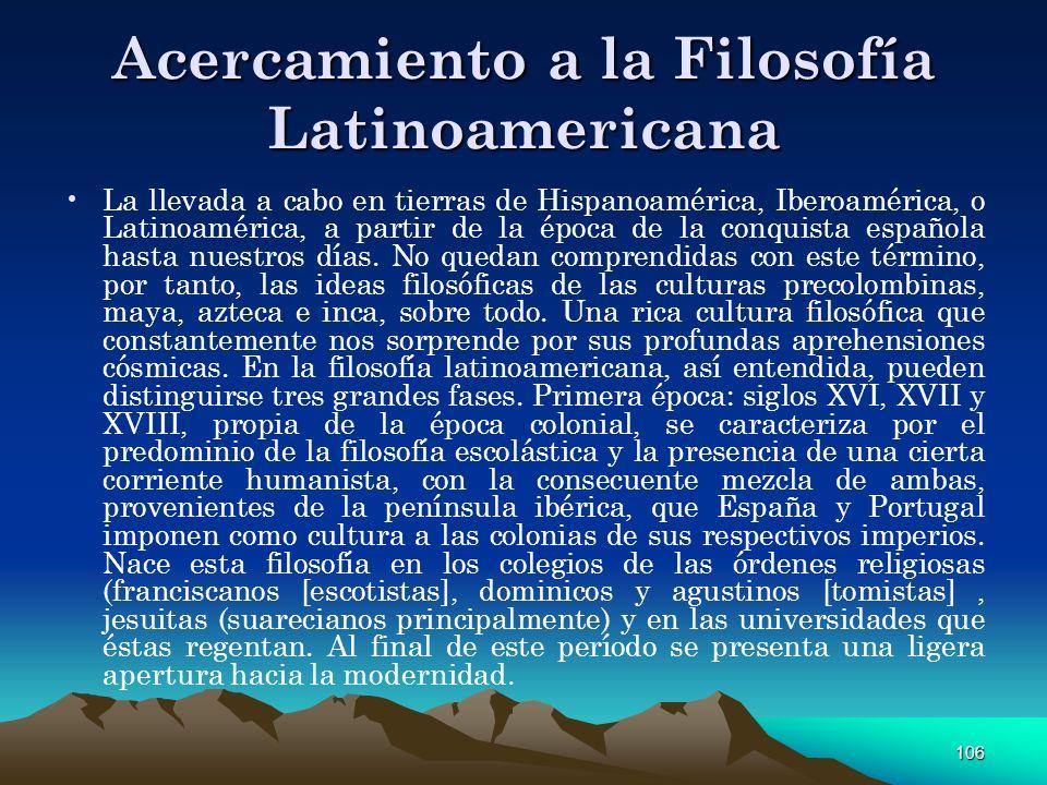 Acercamiento a la Filosofía Latinoamericana