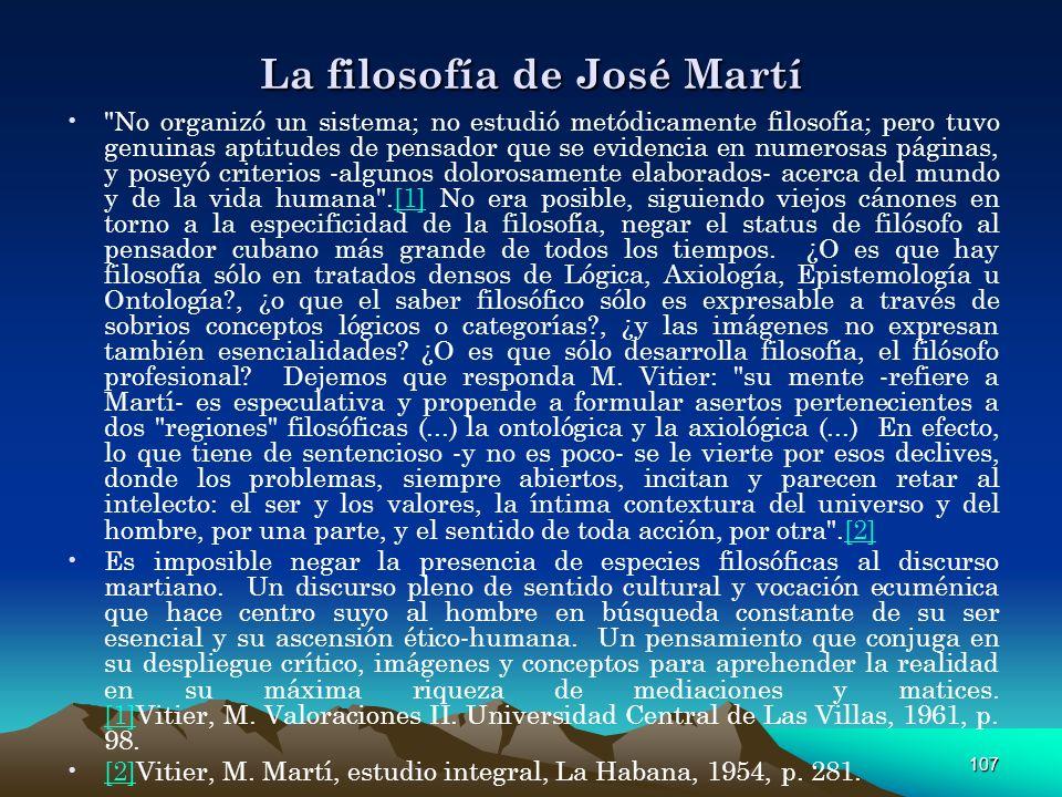 La filosofía de José Martí