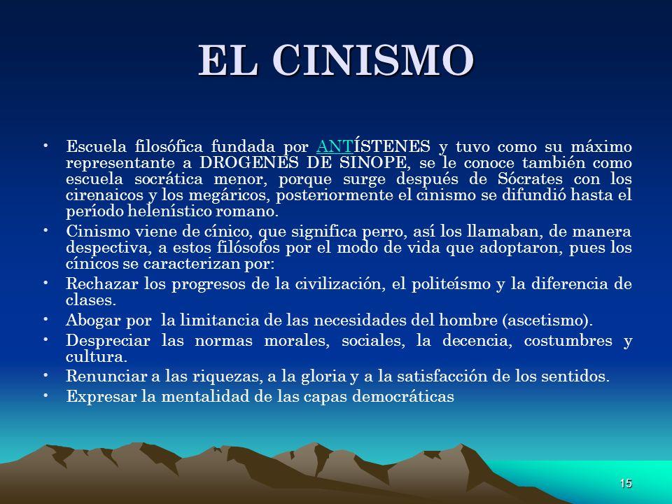 EL CINISMO