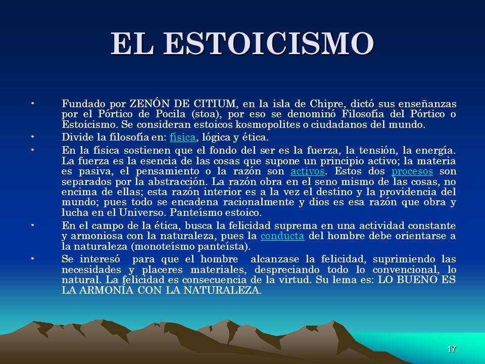 EL ESTOICISMO