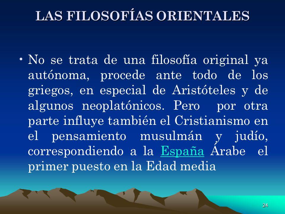 LAS FILOSOFÍAS ORIENTALES