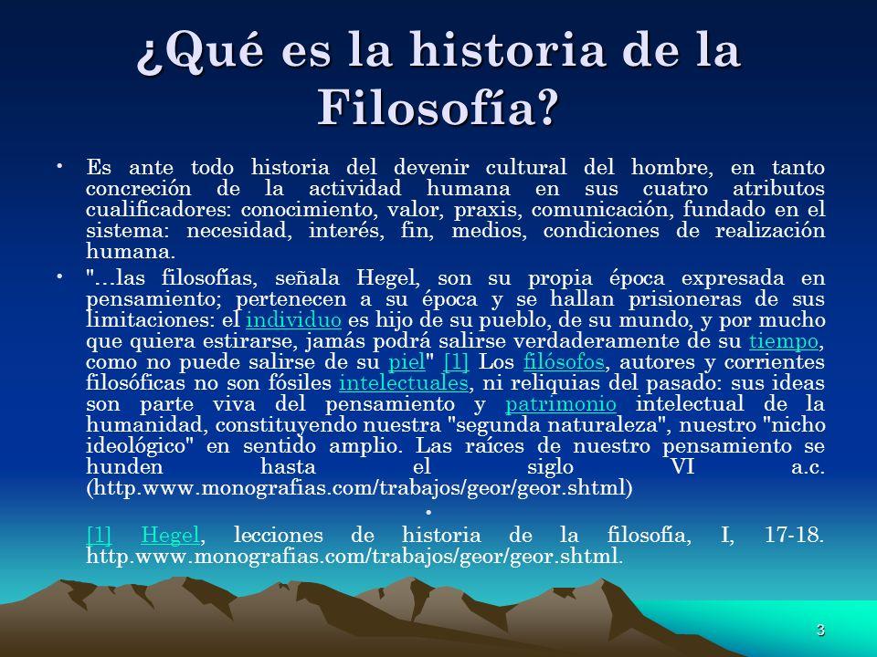 ¿Qué es la historia de la Filosofía