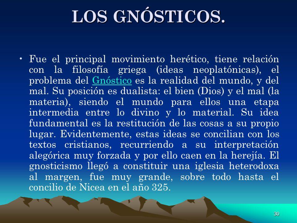 LOS GNÓSTICOS.