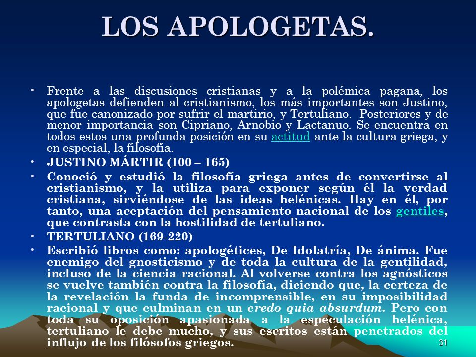 LOS APOLOGETAS.