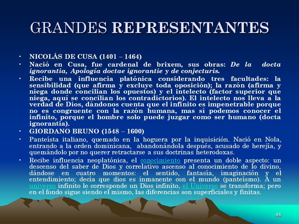 GRANDES REPRESENTANTES