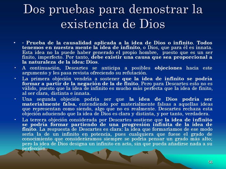 Dos pruebas para demostrar la existencia de Dios
