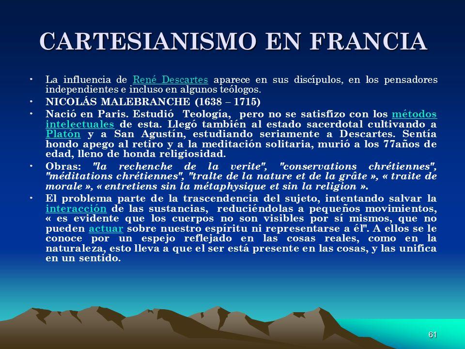CARTESIANISMO EN FRANCIA