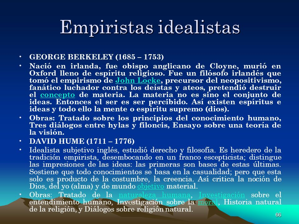 Empiristas idealistas