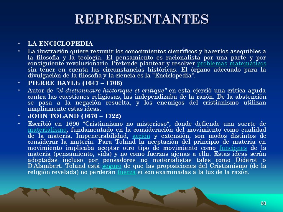 REPRESENTANTES LA ENCICLOPEDIA