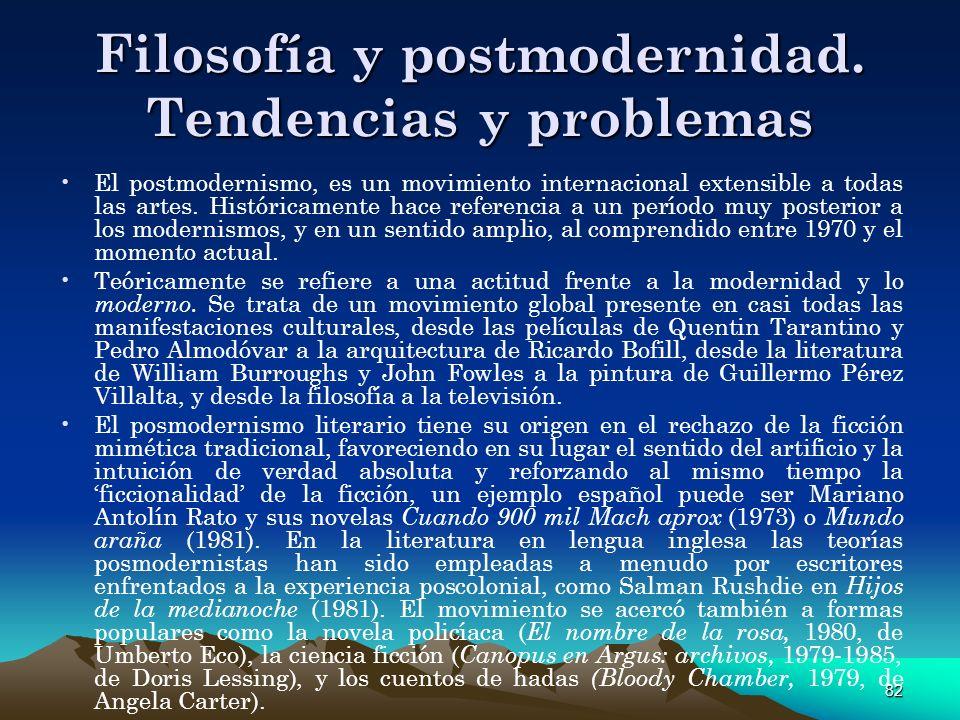 Filosofía y postmodernidad. Tendencias y problemas