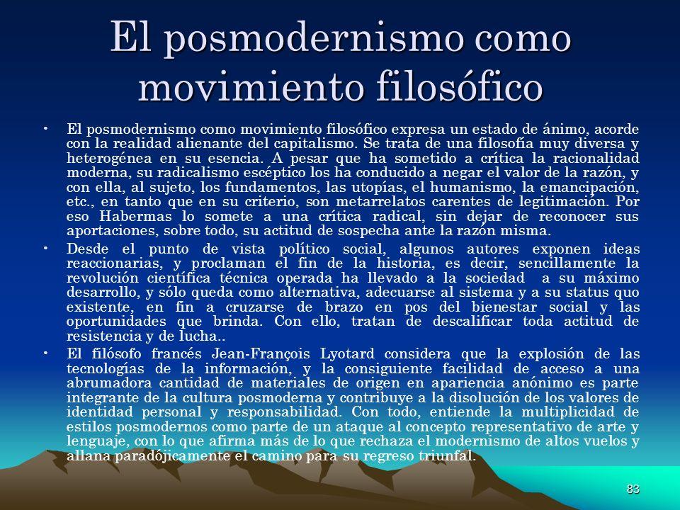 El posmodernismo como movimiento filosófico