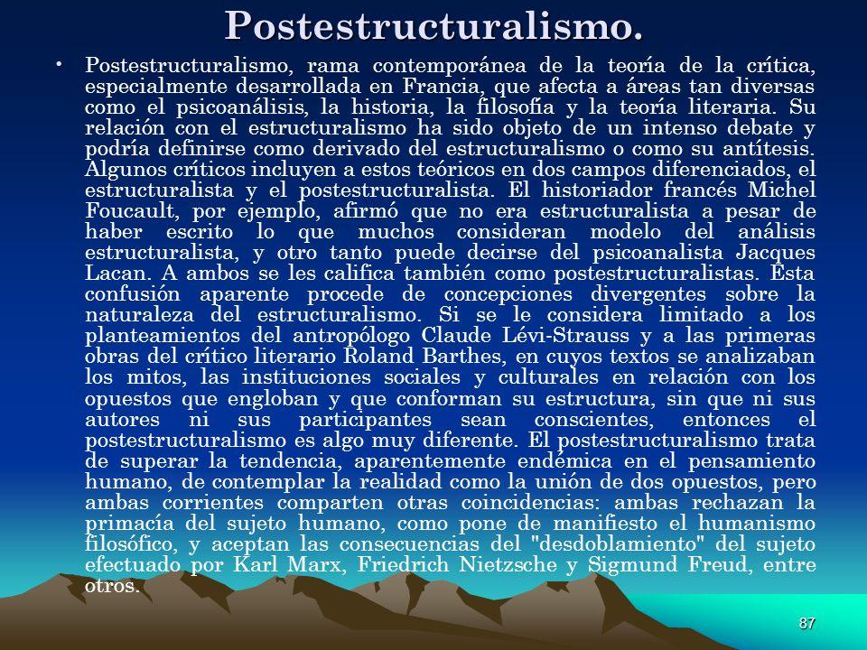 Postestructuralismo.