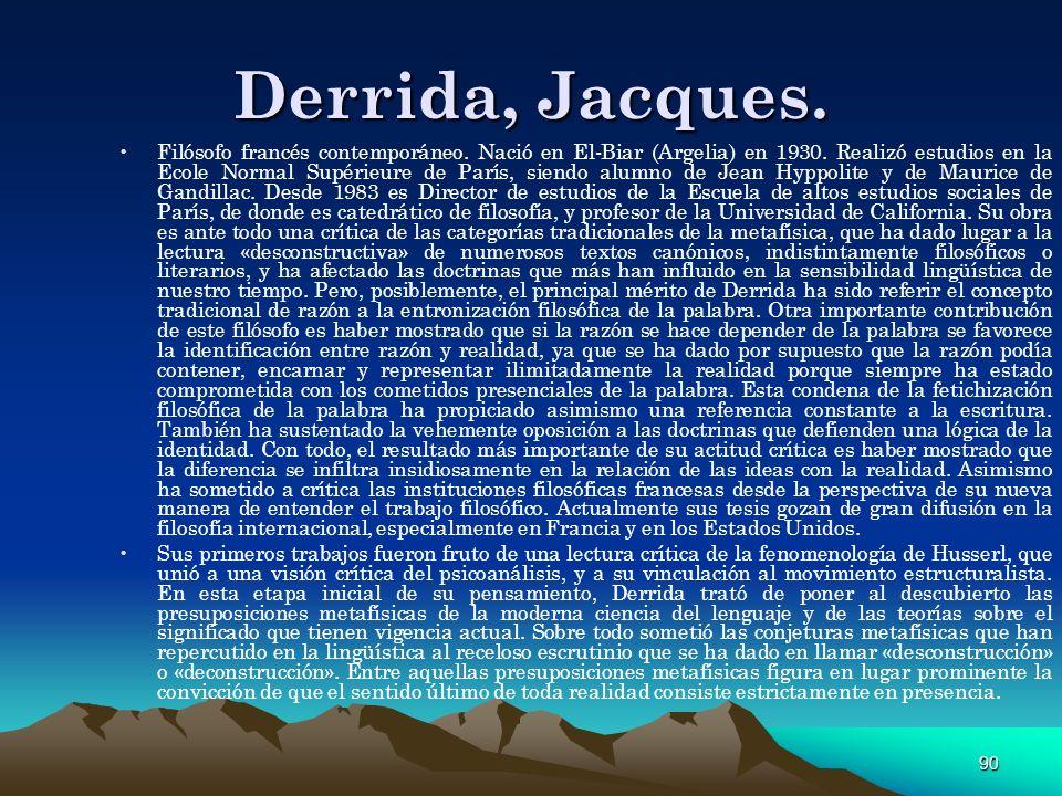 Derrida, Jacques.