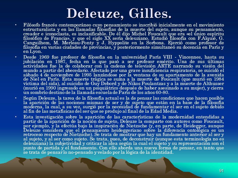 Deleuze, Gilles.