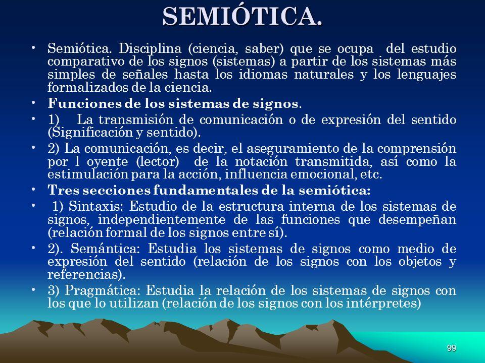 SEMIÓTICA.