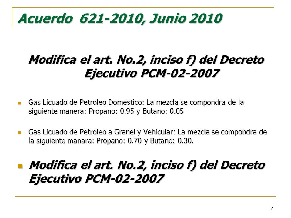 Modifica el art. No.2, inciso f) del Decreto Ejecutivo PCM
