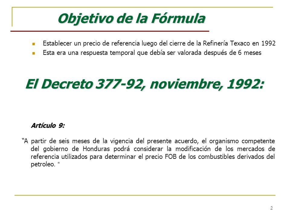El Decreto 377-92, noviembre, 1992: