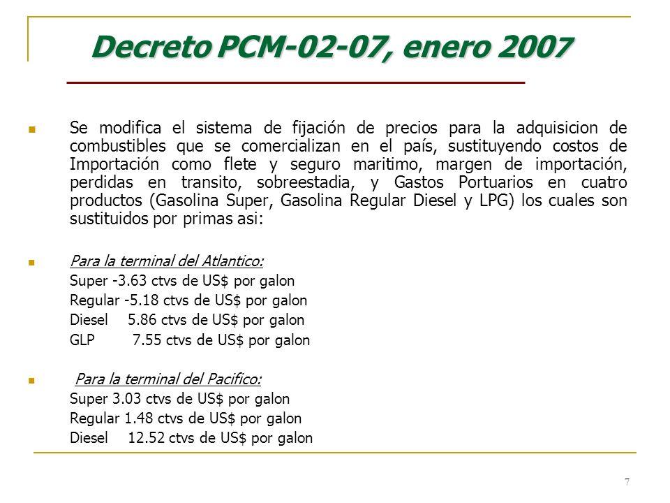 Decreto PCM-02-07, enero 2007