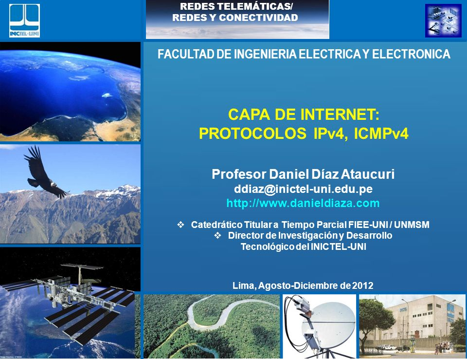 CAPA DE INTERNET: PROTOCOLOS IPv4, ICMPv4