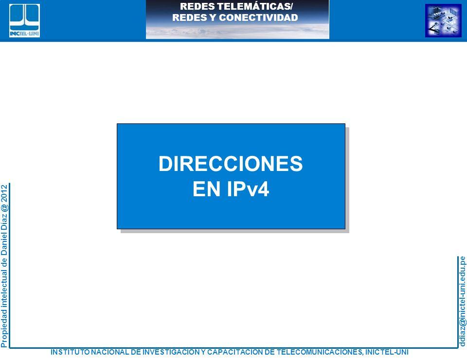 DIRECCIONES EN IPv4