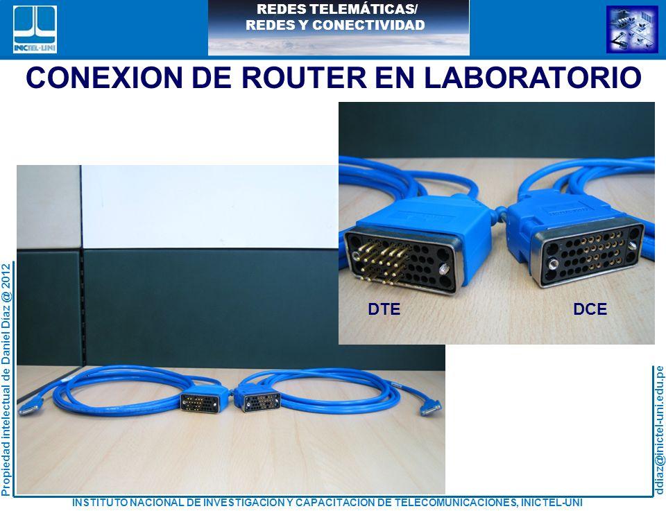 CONEXION DE ROUTER EN LABORATORIO