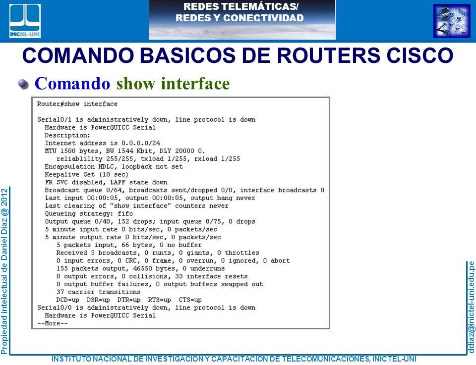 COMANDO BASICOS DE ROUTERS CISCO